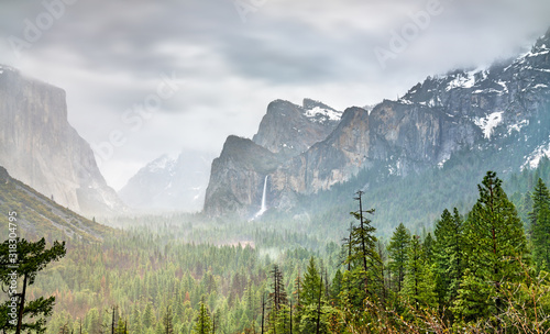 Iconic view of Yosemite Valley in California Canvas Print
