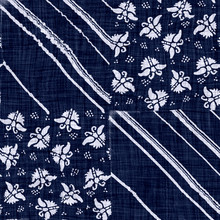Indigo Blue Batik Butterfly Dyed Effect Texture Background. Seamless Japanese Patchwork Quilt Repeat Pattern Swatch. Wax Resist Dye. Wings Asian Fusion All Over Kimono Textile. Worn Boro Cloth Print