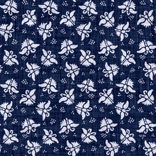 Indigo Blue Batik Butterfly Dyed Effect Texture Background. Seamless Japanese Repeat Pattern Swatch. Animal Motif Wax Resist Dye. Wings Asian Fusion All Over Kimono Textile. Worn Boro Cloth Print