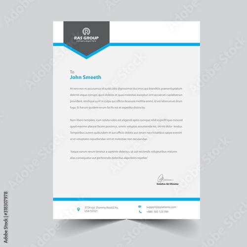Fototapeta letterhead template obraz