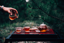 Process Brewing Tea. Chinese C...