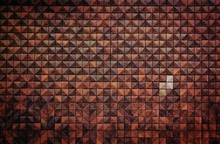 Full Frame Shot Of Patterned Brown Wall