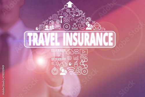 Photo Conceptual hand writing showing Travel Insurance