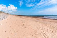 Deserted Sandy Beach With An O...