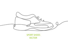 Sports Shoes In A Line Style.V...