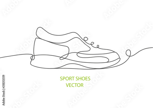 Fotografia Sports shoes in a line style