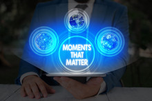 Handwriting Text Moments That Matter. Conceptual Photo Meaningful Positive Happy Memorable Important Times Elements Of This Image Furnished By NASA