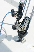 Hand Winch On A Sailboat While...