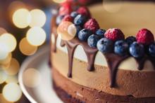 Beautiful Fresh Sweet Cake Wit...
