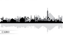 Cairo City Skyline Silhouette ...