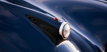 High Angle View Of Blue Vintage Car Tail Light