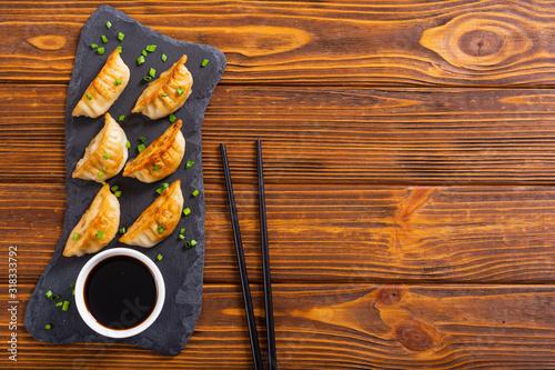 mata magnetyczna Traditional asian dumplings gyoza
