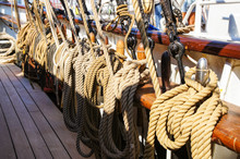 Tall Ship Rigging, Tied Ropes