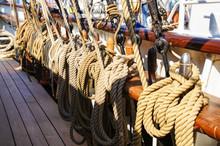 Tall Ship Rigging, Tied Ropes