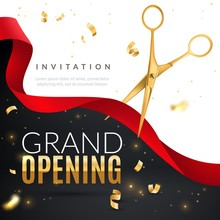 Grand Opening. Golden Confetti...