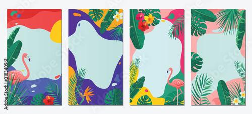 Summer abstract vector background set Fotobehang