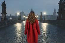 Female Tourist Walking Alone O...