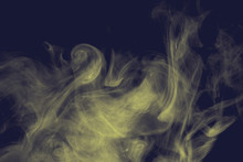 Fancy Colored Smoke. Curls And...