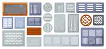 Air Vent Vector Cartoon Set Icon.Vector Illustration Ventilation Grate On White Background .Isolated Cartoon Set Icon Air Vent .