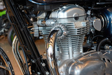 Cropped Image Of Motorcycle Engine
