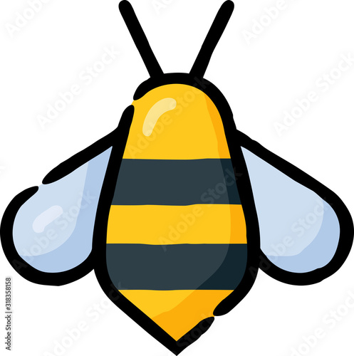 Photo Honey Bee Insect Filled Outline Icon