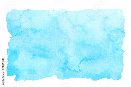 Fototapeta Sky blue watercolor abstract background