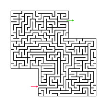 Abstract Maze Labyrinth With E...