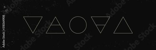 Fotografia Alchemy symbols isolated on dark background