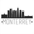 Monterrey Mexico. City Skyline. Silhouette City. Design Vector. Famous Monuments.