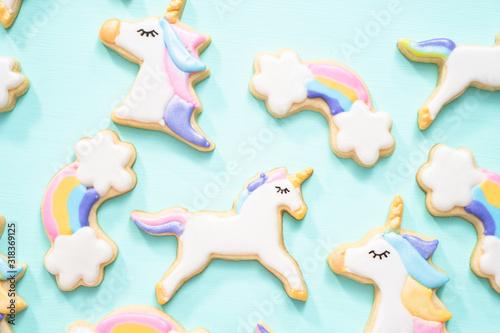 Unicorn sugar cookies Canvas Print