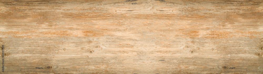Fototapeta old brown rustic light bright wooden texture - wood background panorama banner long