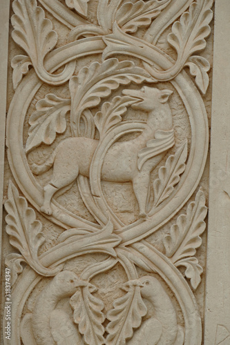 Fotografie, Obraz Carvings on columns of  Cathedral of St Catherine