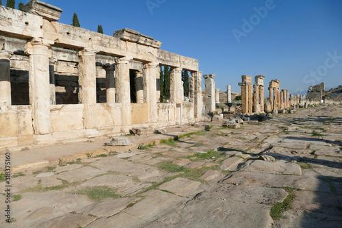 Obraz na plátně Ruins of collonaded street near the Arch of Domitian