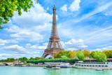 Fototapeta Fototapety Paryż - View of Paris with Eiffel tower