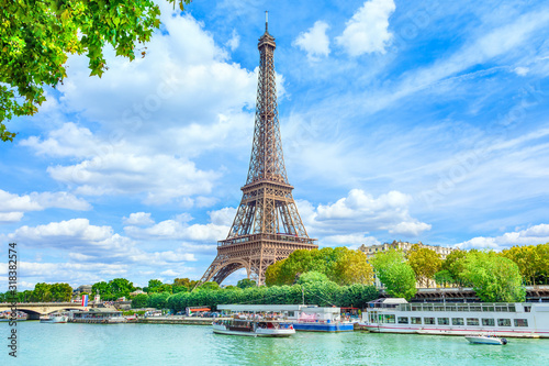 View of Paris with Eiffel tower - 318382574