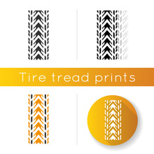 Track Tread Icon. Detailed Aut...