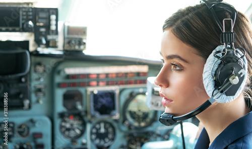 Photo Operatore in avia company persons crew pilots stewardess airplane command civil aviation