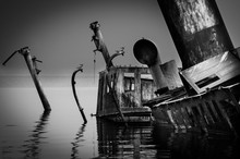 Abandoned Ship Sunk In River