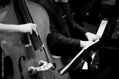 Fotografía Musicians Playing Cello And Piano