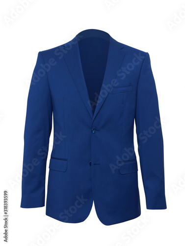 Photo Mans suit on a white background