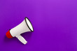 canvas print picture - Modern megaphone on color background