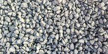 Texture Of Gravel Stones On Gr...