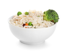 Boiled Rice With Vegetables In...