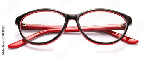 Obraz Stylish eyeglasses on white background - fototapety do salonu