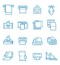 Set Of Towels And Napkins Icon...