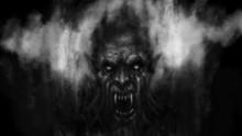 Scary Vampire Face In The Dark...