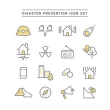 DISASTER PREVENTION ICON SET