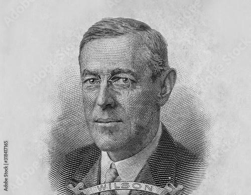 Woodrow Wilson President Portrait Wall mural
