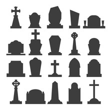 Dark Gravestone Icons
