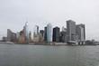 CITY SKYLINE BY SEA AGAINST SKY